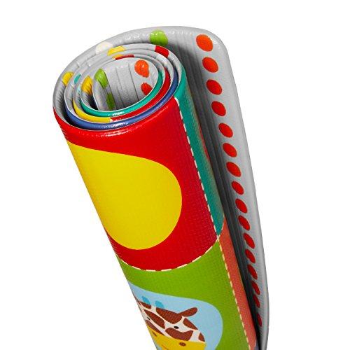 Skip Hop Zoo Reversible Waterproof Foam Baby Play Mat, Multi Colored, 86'' X 52'' by Skip Hop (Image #6)