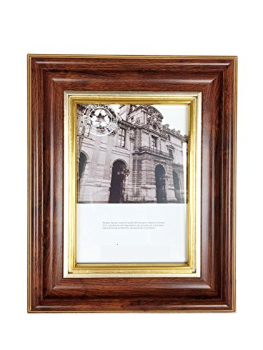 Beautifully Beaded Photo Frame - Lilian PC Photo Frames, Dark Brown with Gold