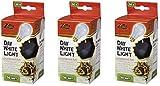 (3 Pack) Zilla Reptile Terrarium Heat Lamps Incandescent Bulb, Day White, 100W