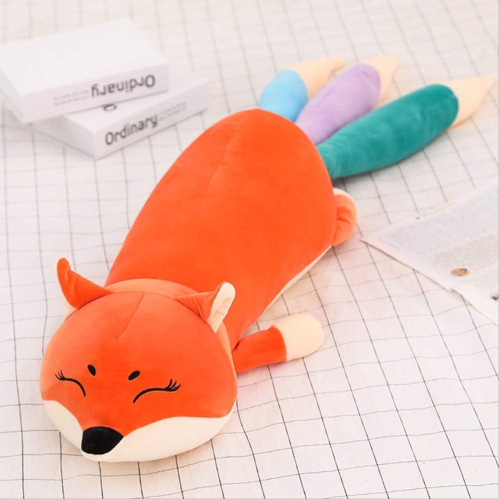 WNBJ Down Cotton Plush Toy Cartoon Fox Pillow 100CM Naranja