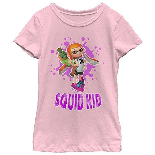 Price comparison product image Nintendo Girls' Splatoon Squid Kid Light Pink T-Shirt