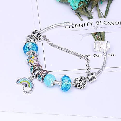 b6e698a9645a GSYDSZ Estilo del Verano clásico Arco Iris de Amor Colgante de la Amistad  Pulseras de la Marca para Las Mujeres con dijes Accesorios de la joyería  DIY  ...