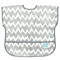 Bumkins Waterproof Junior Bib, Gray Chevron (1-3 Years)