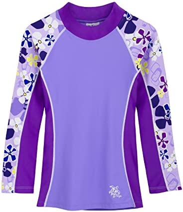 Tuga Girls Two-Piece Long Sleeve Bathing Suit Set 2-14 Years Protection UPF 50