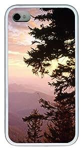 iPhone 4S CaseBlue Ridge Parkway In North Carolina TPU Custom iPhone 4/4S Case Cover White
