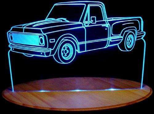 (1970 Chevy Pickup Truck C10 Acrylic Lighted Edge Lit 11-13