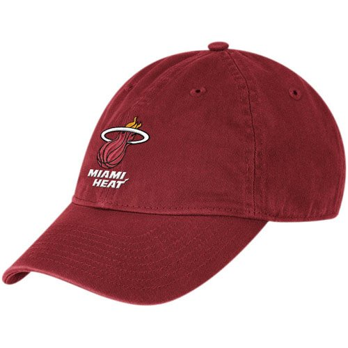 - NBA adidas Miami Heat Ladies Basic Logo Slouch Adjustable Hat - Red