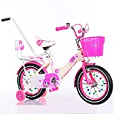 ZCRFY Bike Kids Boys Girls Baby 2-10 Years Old Children Students Bicycle With Safety Pusher Steel Frame Light Weight Toddlers Balance Tricycle,Pink-12Inches