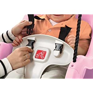 Step2 Infant to Toddler Swing Seat - Durable Outdoor Baby Chair Fun Toy, Pink
