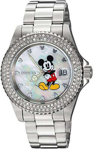 Invicta Women's 'Disney Limited Edition' Quartz Stainless Steel Casual Watch, Color:Silver-Toned (Model: 24750)