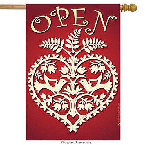 Jeremiah Junction House Flag - Open Heart - 28