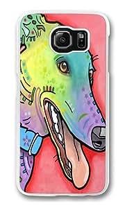 graceful greyhound Custom Samsung Galaxy S6/Samsung S6 Case Cover Polycarbonate Transparent wangjiang maoyi