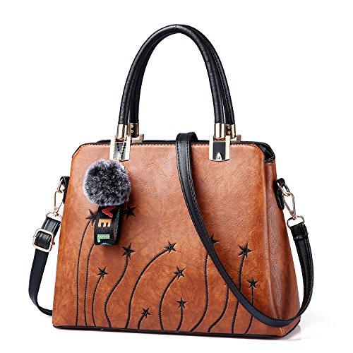 Women Purses and Handbags Top Handle Satchel Shoulder Tote Bags Fashion Leather Girls Crossbody Bag by PINCNEL (Image #1)