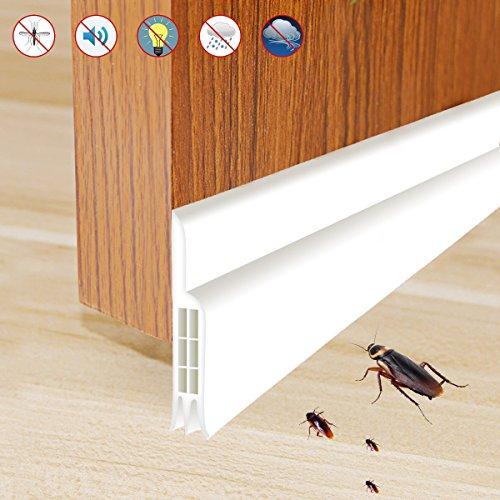 Door Seal Bottom  Rantizon Door Bottom Seal Weather Stripping, Door Draft Stopper, Draft Stopper Soundproof for Doors and Windows, Energy & Money Saving/Weatherproof/Bugs Stopper