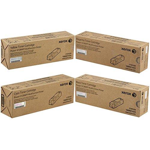 Xerox Phaser 6128MFP Standard Yield Toner Cartridge Set PART# 106R01452 106R01453 106R01454 106R01455