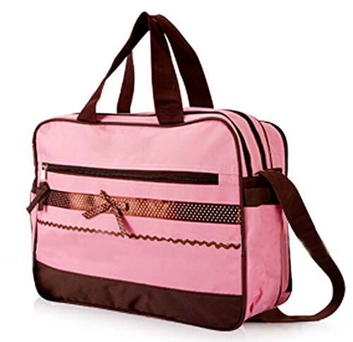 Price comparison product image Ecokaki(TM) Fashion Baby Diaper Bag Multi-function Large Mummy Bag Diaper Tote Baby Bag Handbag,  Pink