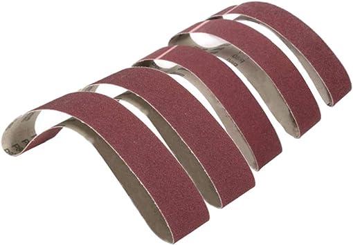BE-TOOL 5Pcs Power-Sander Belts 50mm x 686mm Aluminium Oxide Bench Sanding Paper for Belt Sander 100 Grits Metal Polishing Woodworking