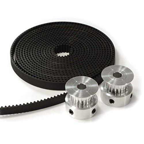 3D Printer Timing Belt Pulley GT2 for CNC Reprap Prusa i3 2pcs Aluminum 20T Pulley Eewolf