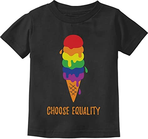 Equality Rainbow Gay /& Lesbian Ice Cream Pride Flag Toddler Kids T-Shirt