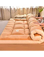 Japanese Floor Mattress 4 Inches Extra Thick Futon Floor Mattress for Adults, Japanese Thicken Futon Mattress Foldable Floor Bed Camping Mattress