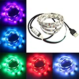 LANIAKEA USB LED Strip Lights, Multi Color RGB Light Strip for Flat Screen TV LCD, Bias Lighting for HDTV 59 inch 5V USB Powered, LED TV Backlight, Desktop PC Monitor, Home Theater