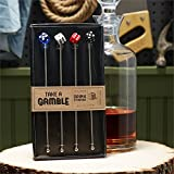 Two's Company Take a Gamble Set of 4 Drink Stirrers in Gift Box