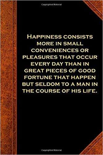 ben franklin quote journal happiness small conveniences vintage