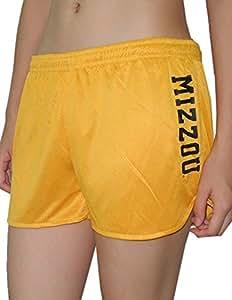 Womens MISSOURI TIGERS Dri-Fit Mesh Running / Athletic Shorts L Yellow