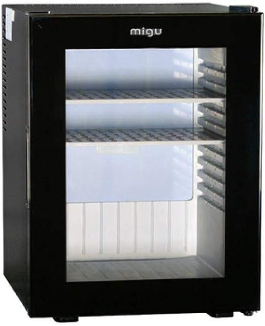 MYYQ 40L Hotel Negro Pequeño Refrigerador Habitación Vidrio Puerta ...