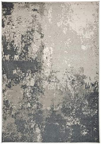 Rugshop Newbury Collection Contemporary Abstract Area Rug 5' x 7' Gray