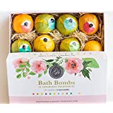 New Bath Bombs Variety Deluxe Set of 12 XL Assorted Fizzies - 120gram Each Individually Wrapped, All Different Scents - Natural Organic Vegan With Essential Oils. Perfect for Birthday, Anniversary, Bridal Shower (As Seen on Dragons Den)