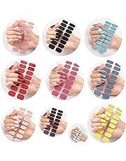 10Set Semi Cured Gel Nail Wraps, 10 Designs Available Adhesive Full Wrap Gel Nail Art Sticker, Stick On Gel Nails, Semicured Gel Stickers, Nails Gel Strips Gel Nail Polish Strips