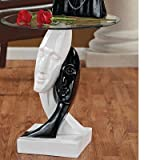 Design Toscano Lovers in Black and White Sculptural End Table Review