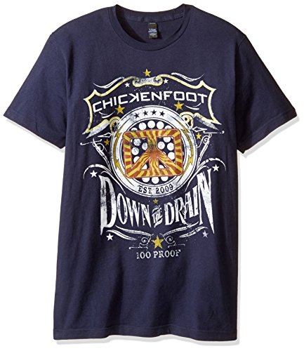 FEA Chickenfoot Down The Draw Mens Soft T-Shirt, Navy, Large