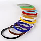 12Pcs Extra Long, Reusable & Washable Velcro ID Collars Pet Bands 12 Colors for All Dog Breeds