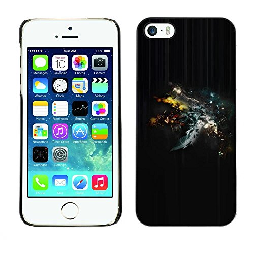 FECELL CITY // Hard PC Aluminium Sticker Case Cover Decorative Shell for Apple Iphone 5 / 5S // Universe Space Cosmos Amazing Stars