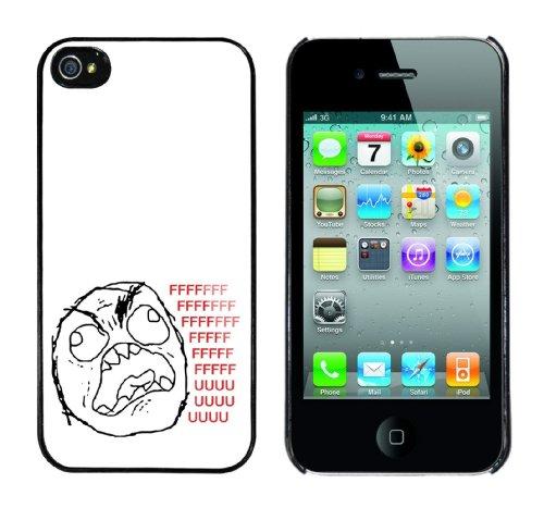 Iphone 4 Case FFFFFUUUU.... Rahmen schwarz