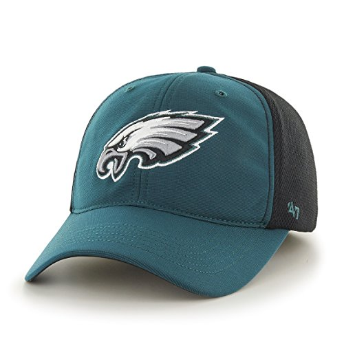 NFL Philadelphia Eagles '47 Draft Day Closer Stretch Fit Hat, One Size, Pacific Green