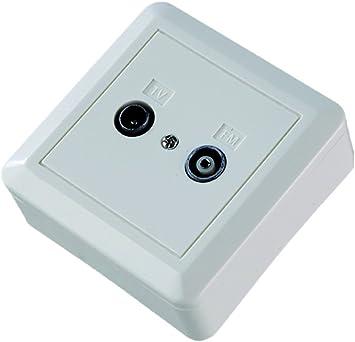 Cofan 51001053 Base 2 Tomas Antena Superficie Macho Hembra
