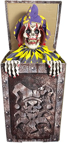 [Forum Novelties Animatronic Prop Animated Jack in The Box for Party Decoration, Multicolor] (Halloween Animatronics)