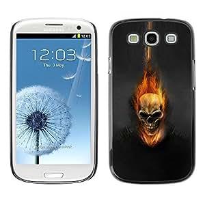 GagaDesign Phone Accessories: Hard Case Cover for Samsung Galaxy S3 - Dark Flam Skull