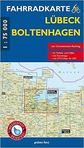 Ostseebad Boltenhagen Karte.Fahrradkarte Lübeck Boltenhagen Mit Ostseeküsten Radweg Maßstab 1