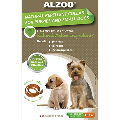 ALZOO Natural Repellent Flea & Tick Collar for Dogs 1-oz box 1-count