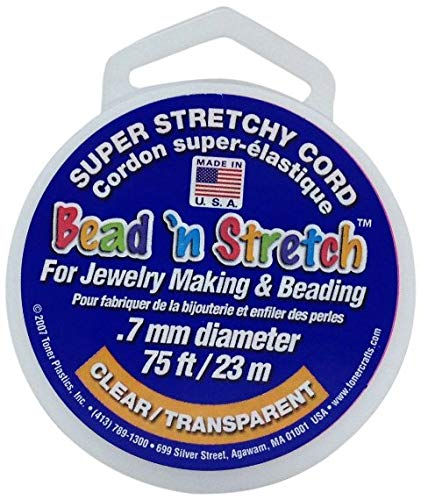 BEAD N STRETCH Clear - 0.7 mm - Pack of 24