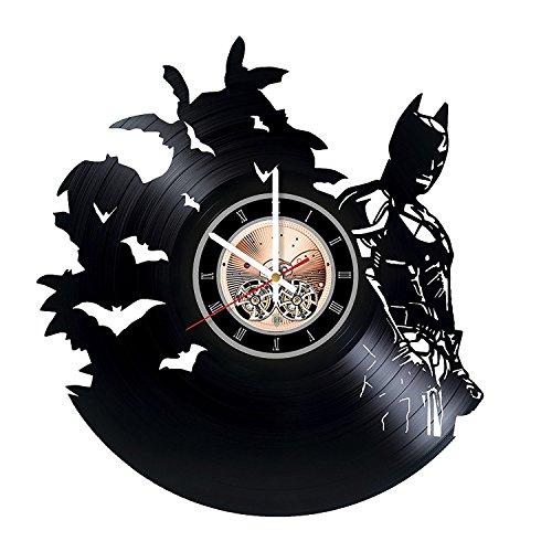 Batman DC Comics Vinyl Record Wall Clock - Home or Bedroom wall decor - Gift ideas for friends, teens - Unique Art Design ()