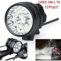 Ship from US, Matoen (TM) 30000 Lm 12x CREE T6 LED 3 Modes Bicycle Lamp Bike Light Headlight Cycling Torch
