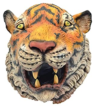 Bristol Novelty bm475 Tigre máscara Realista (un tamaño)