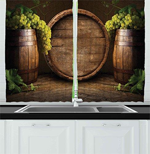 wine theme kitchen curtains - 9