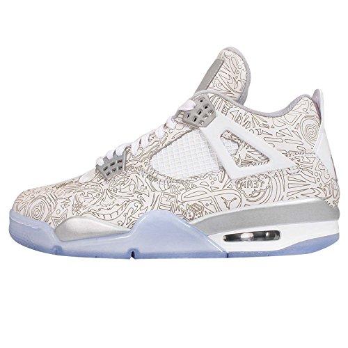Jordan Men 4 Retro Laser (white / silver)