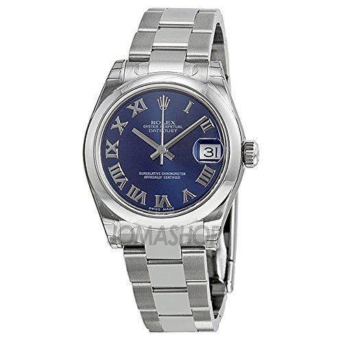 Rolex Rolex Datejust Lady 31 Azul Roman Dial Ostra Pulsera Damas Reloj 178240BLRO